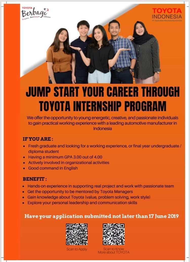 17 New Toyota Internship 2019 Overview