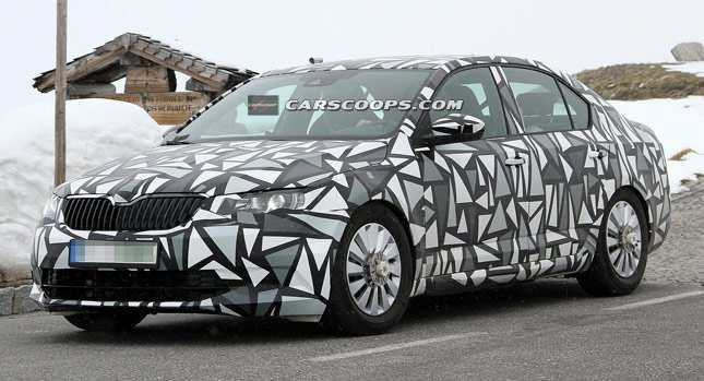19 The Spy Shots Skoda Superb First Drive