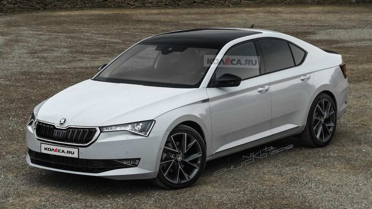 22 All New Spy Shots Skoda Superb New Review