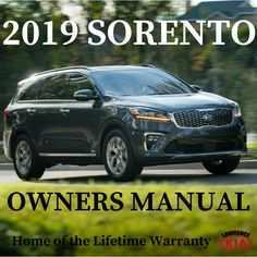 27 New 2019 Kia Sorento Owners Manual Pictures