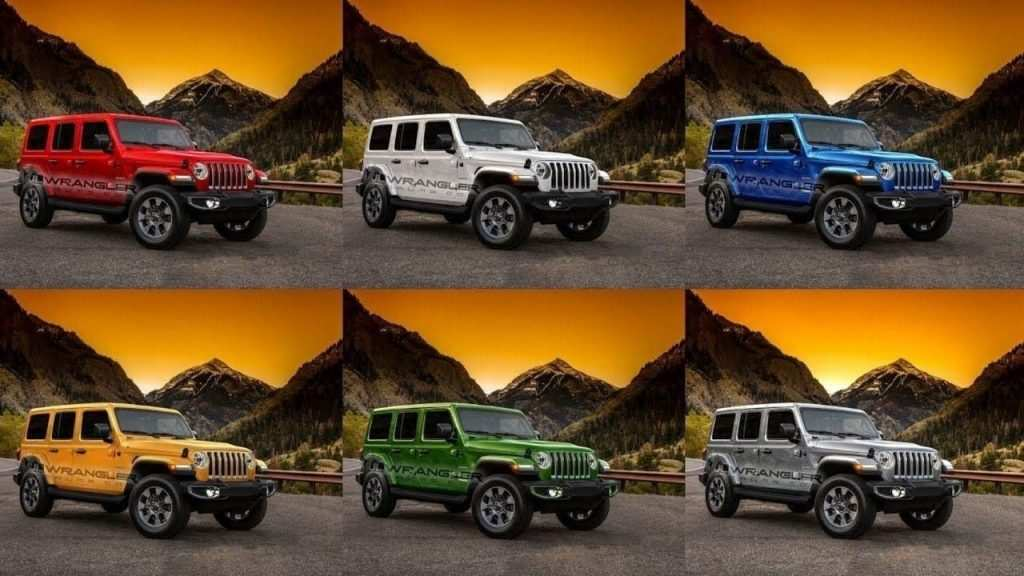 28 All New 2019 Jeep Jl Colors Exterior And Interior