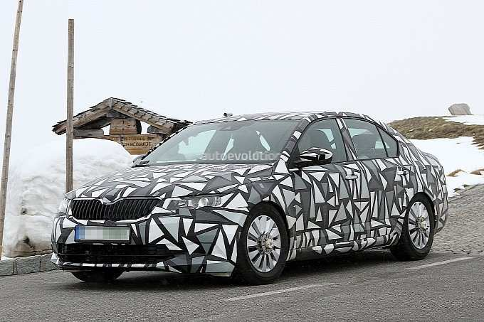 31 All New Spy Shots Skoda Superb First Drive