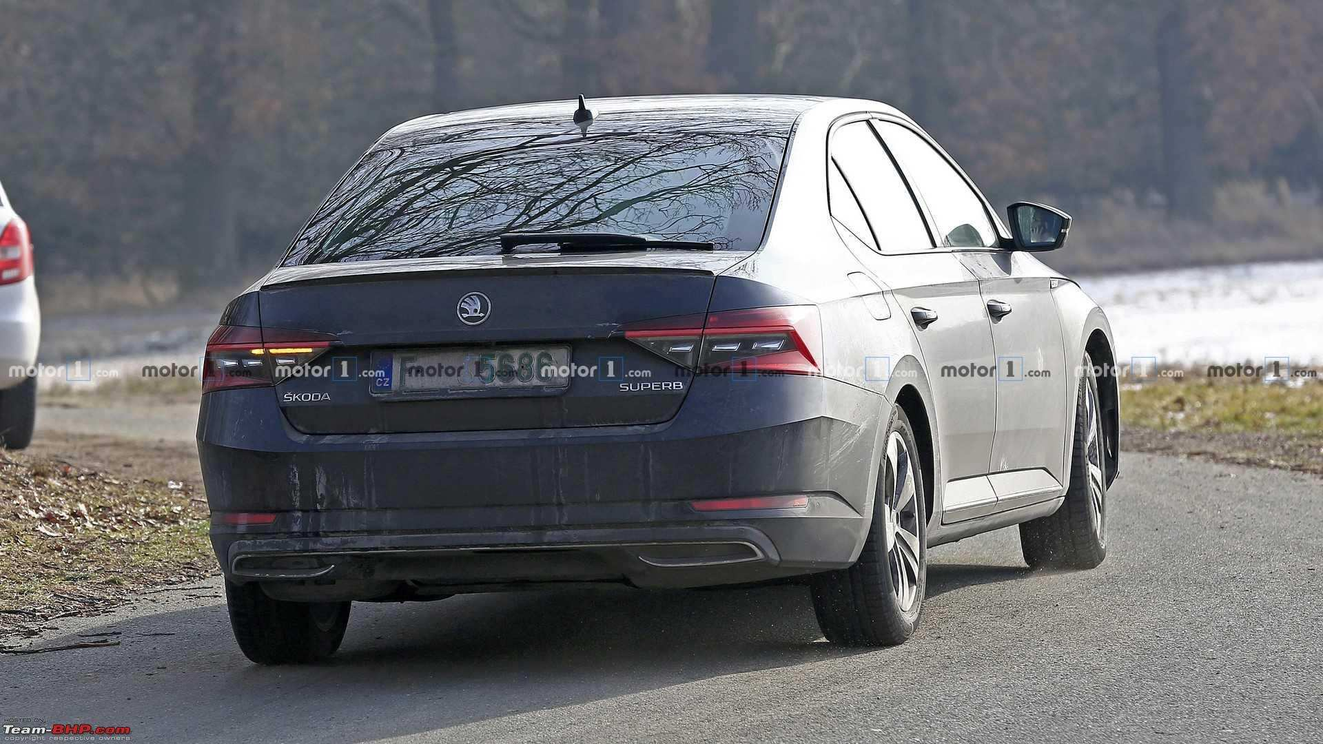 40 Best Spy Shots Skoda Superb Spy Shoot