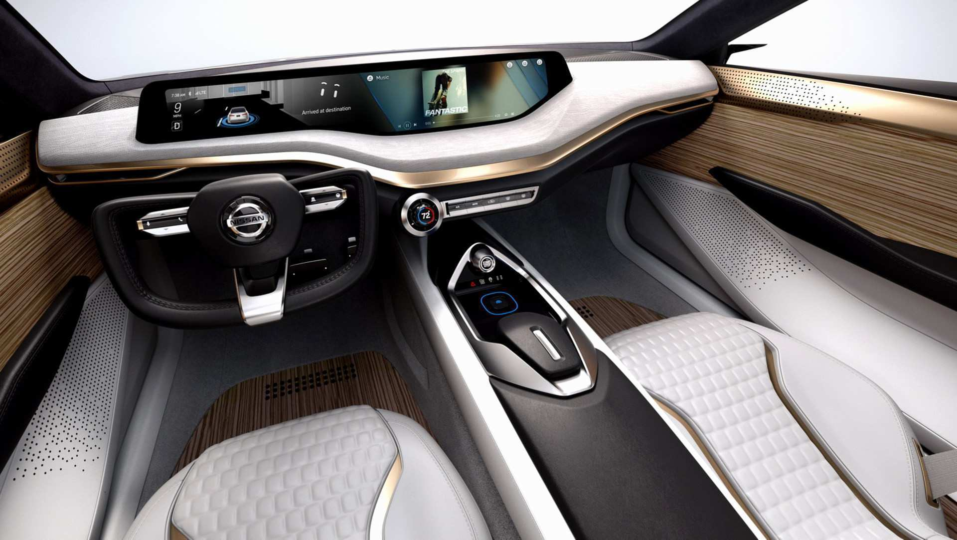41 A 2019 Nissan Altima Interior Spy Shoot