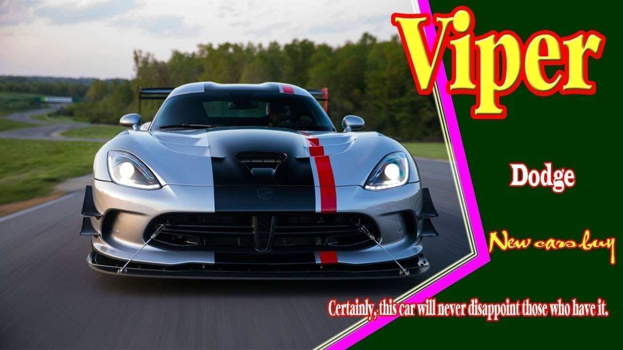 43 New 2020 Dodge Viper Roadster Model