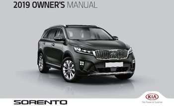 44 A 2019 Kia Sorento Owners Manual Ratings