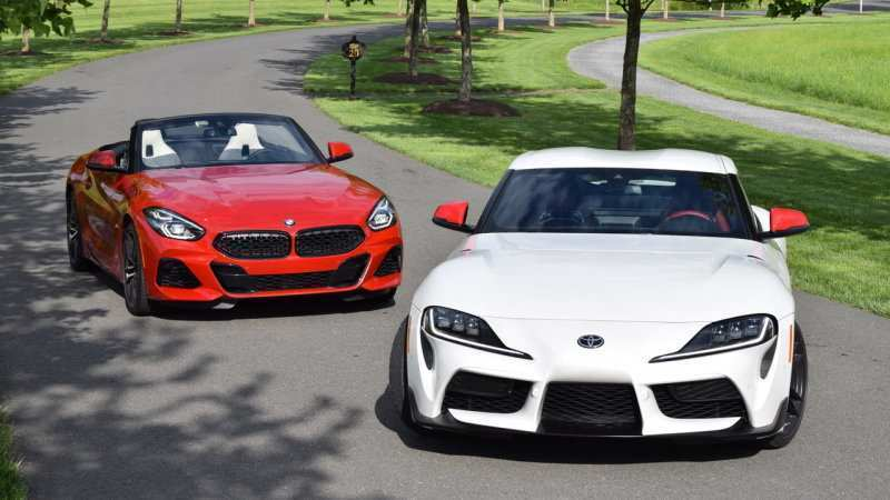 45 A 2020 Toyota Supra Vs BMW Z4 Interior