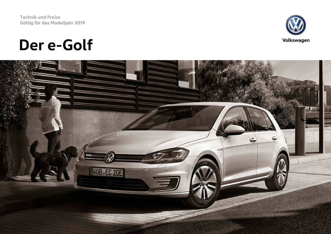49 All New Vw E Golf 2019 Performance And New Engine