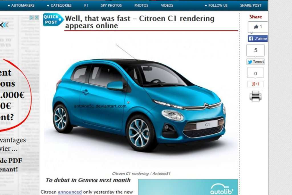 49 The 2020 Citroen C1 Exterior And Interior