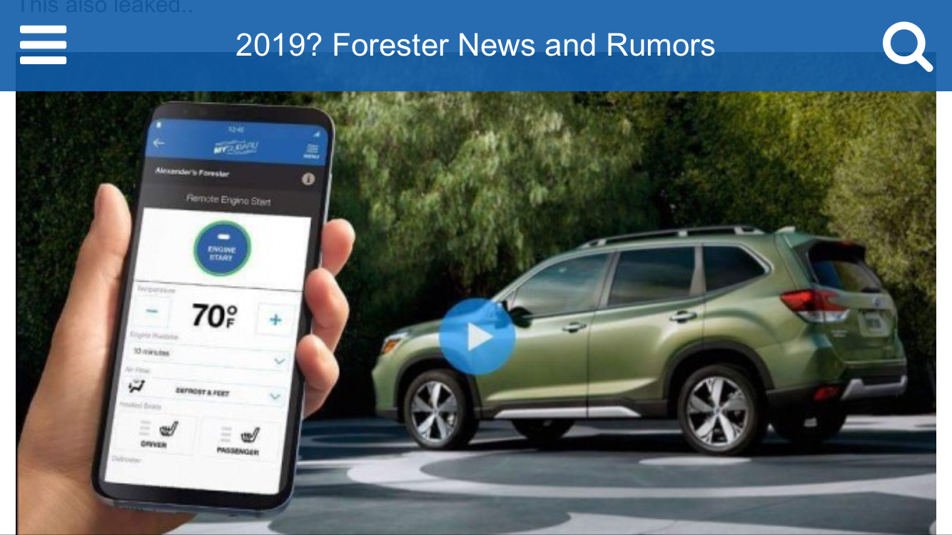 52 The Best Next Generation Subaru Forester 2019 Images
