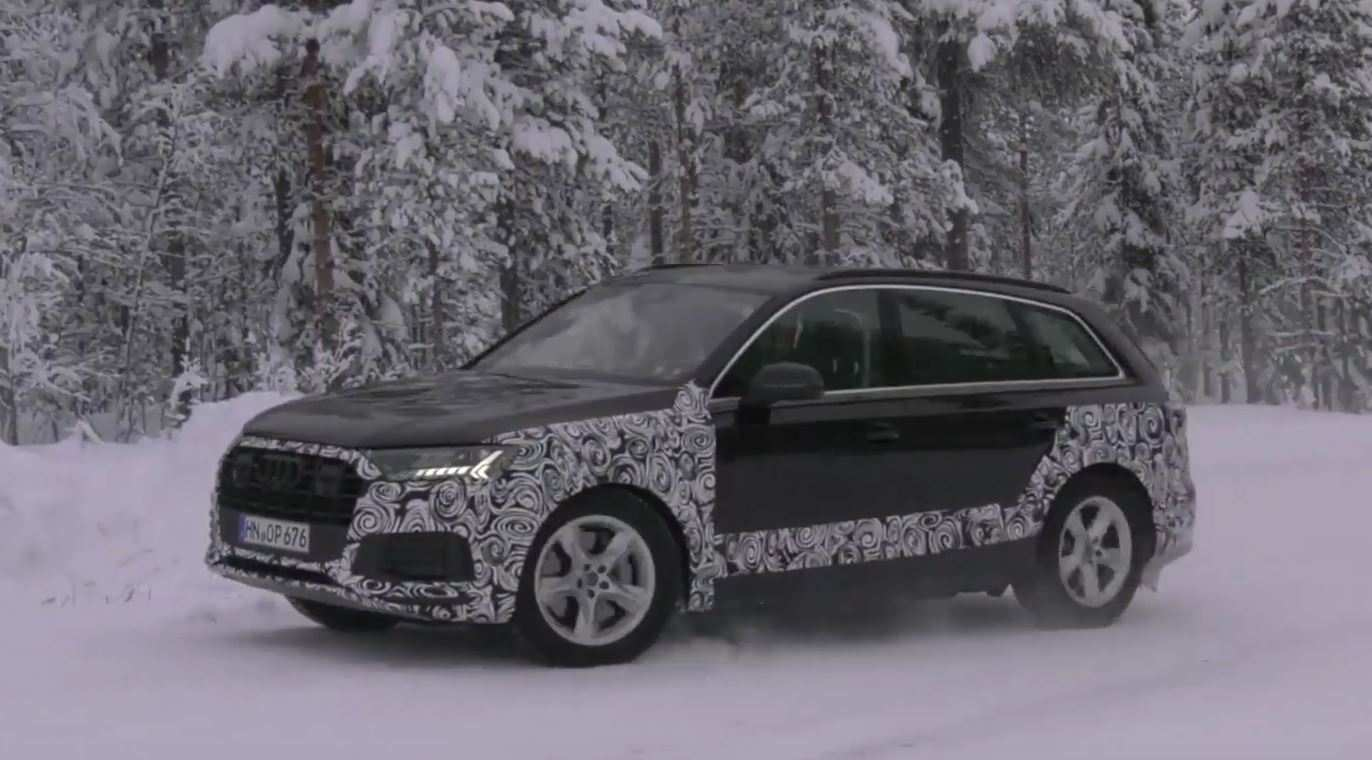 56 A Audi Q7 2020 Facelift Spy Shoot