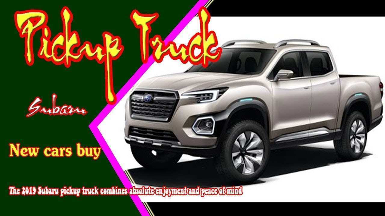 63 All New 2019 Subaru Viziv Pickup Redesign And Concept