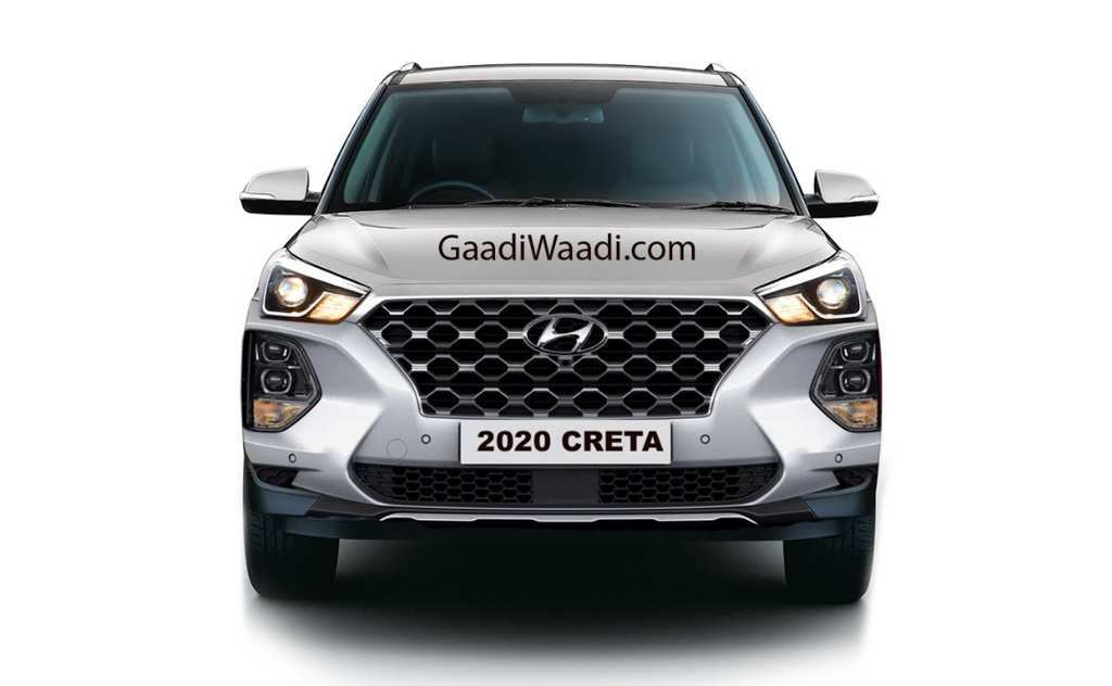 75 New Hyundai Creta Facelift 2020 Spy Shoot