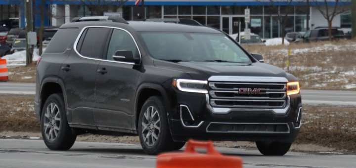 82 A 2020 Gmc Acadia Denali Spy Shoot