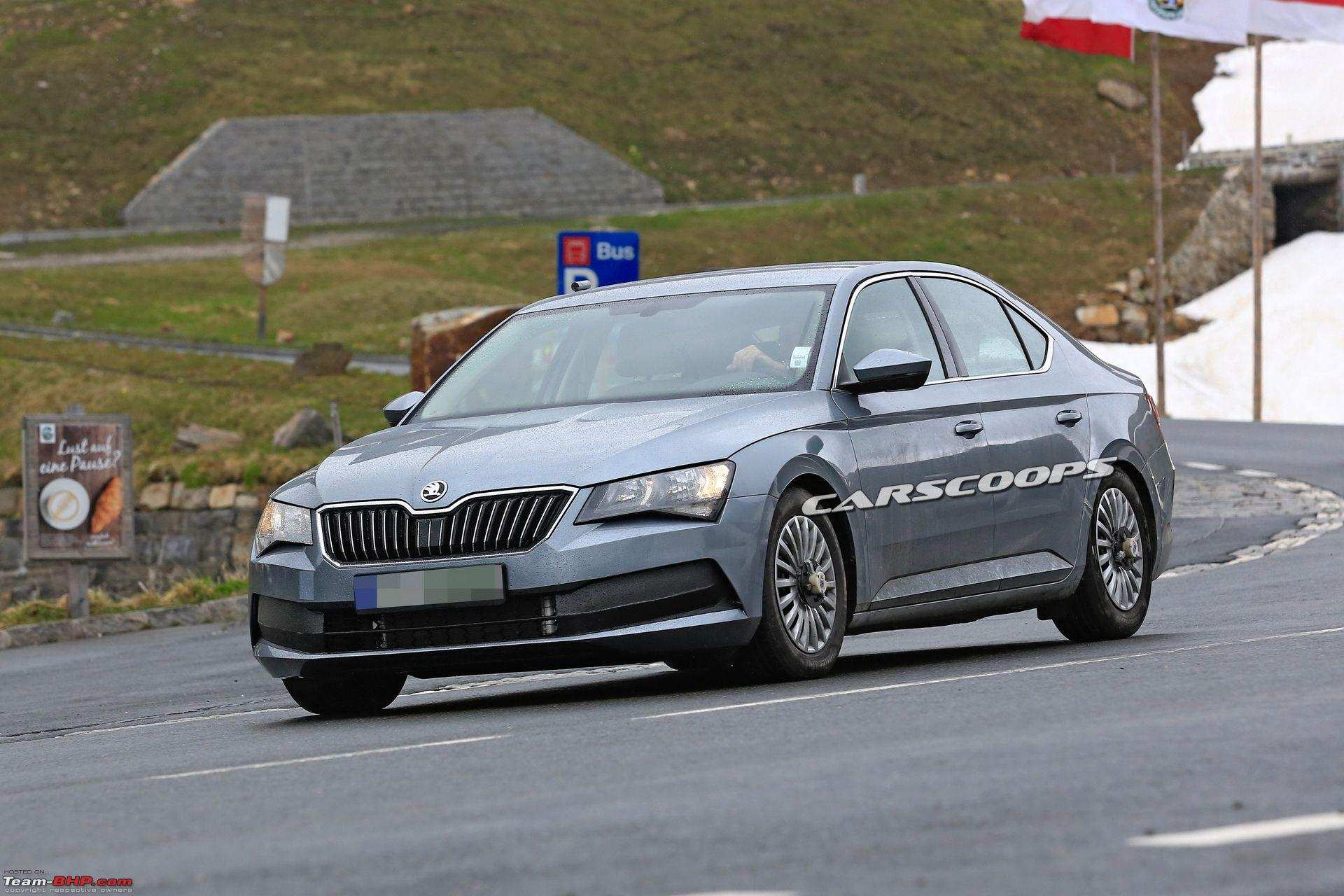 86 A Spy Shots Skoda Superb Engine