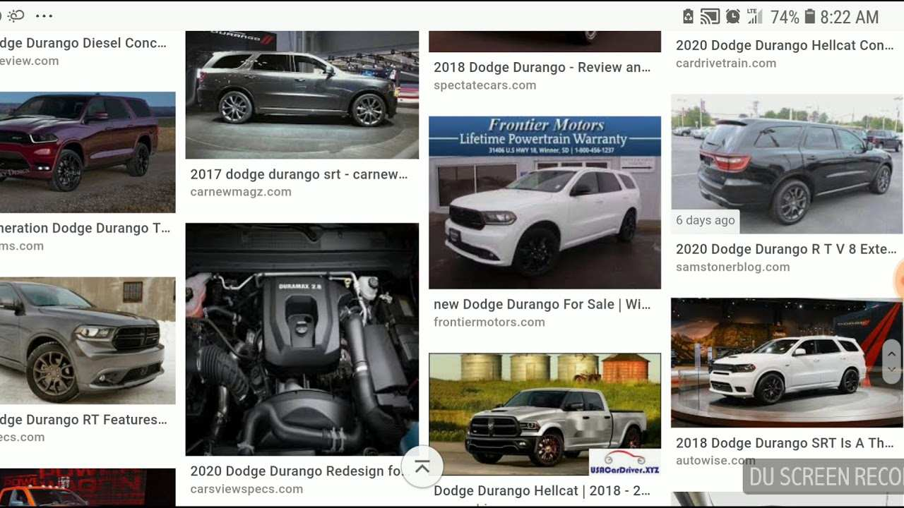86 The 2020 Dodge Durango Diesel Srt8 Release Date And Concept