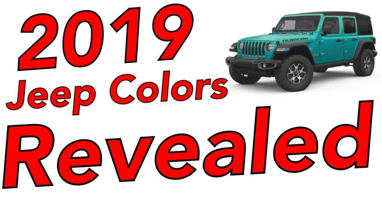 87 The 2019 Jeep Jl Colors Configurations