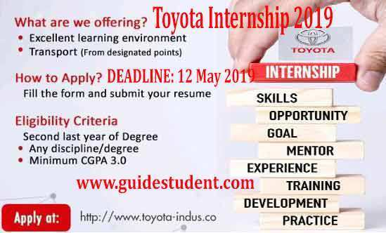 95 All New Toyota Internship 2019 Spesification