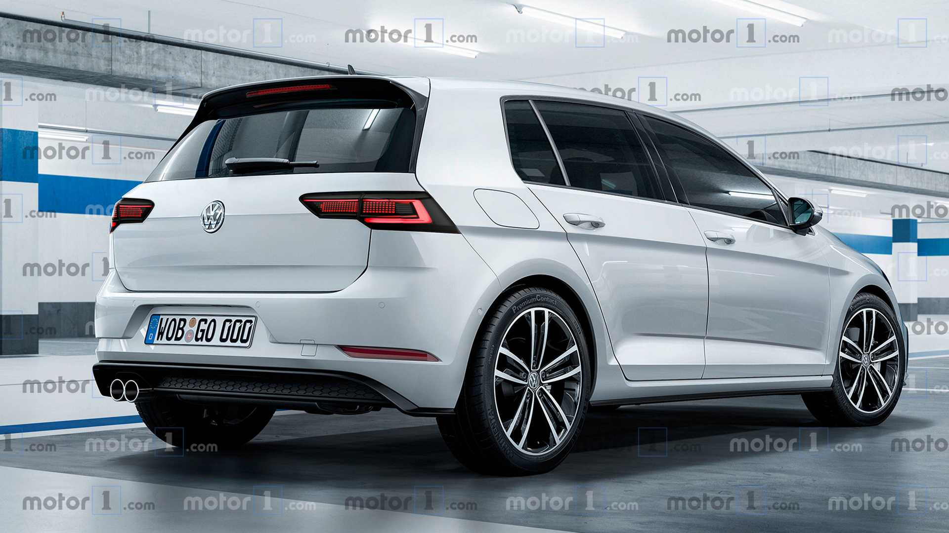 95 New 2020 VW Golf R USA Engine