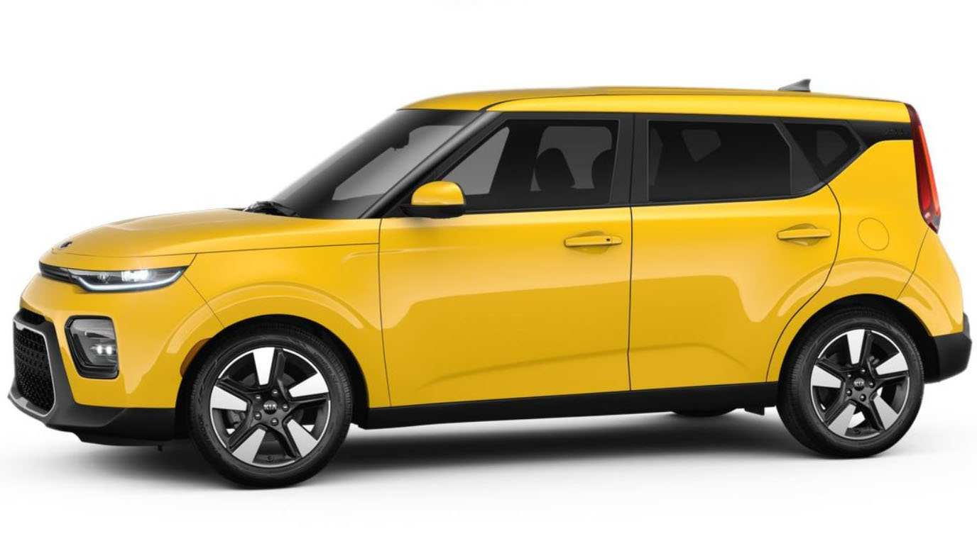 98 A 2020 Kia Soul Solar Yellow Picture
