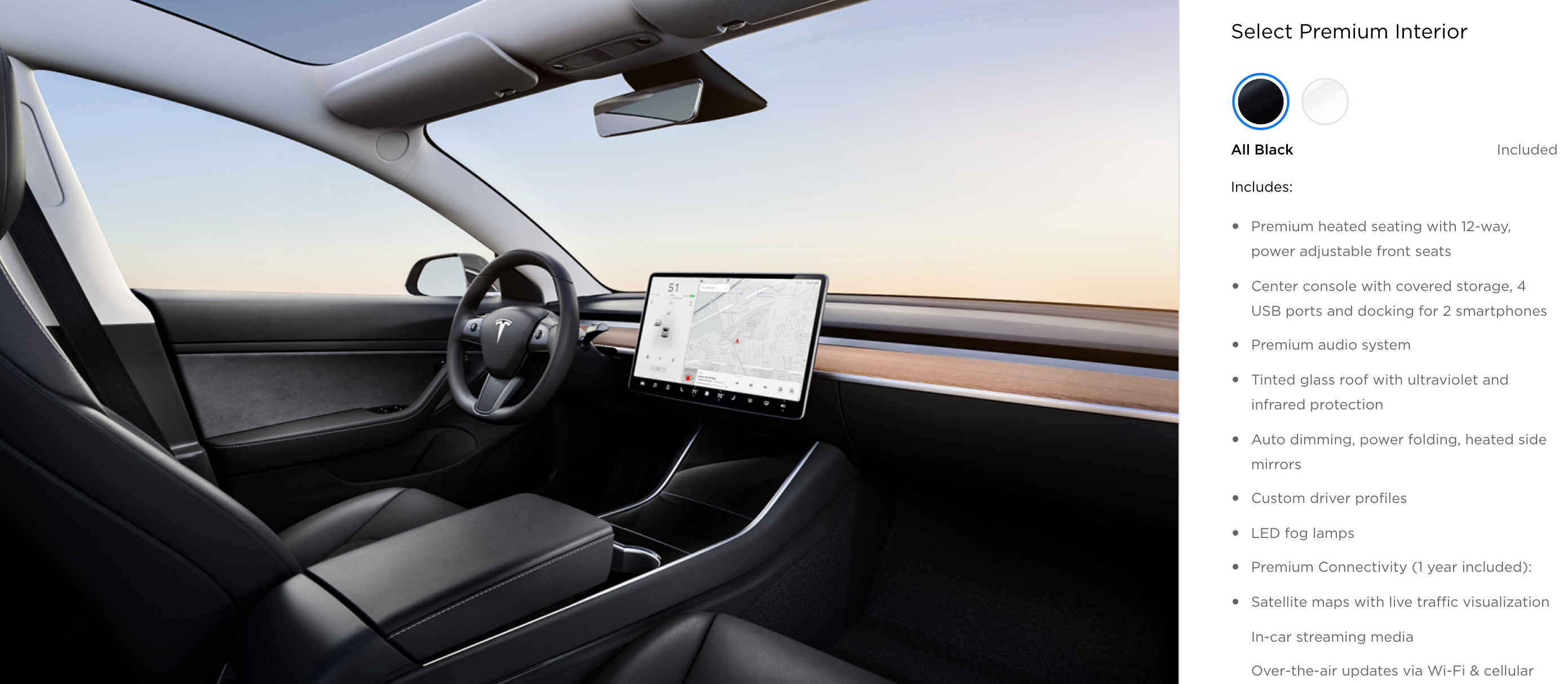 16 A 2019 Tesla Interior Wallpaper