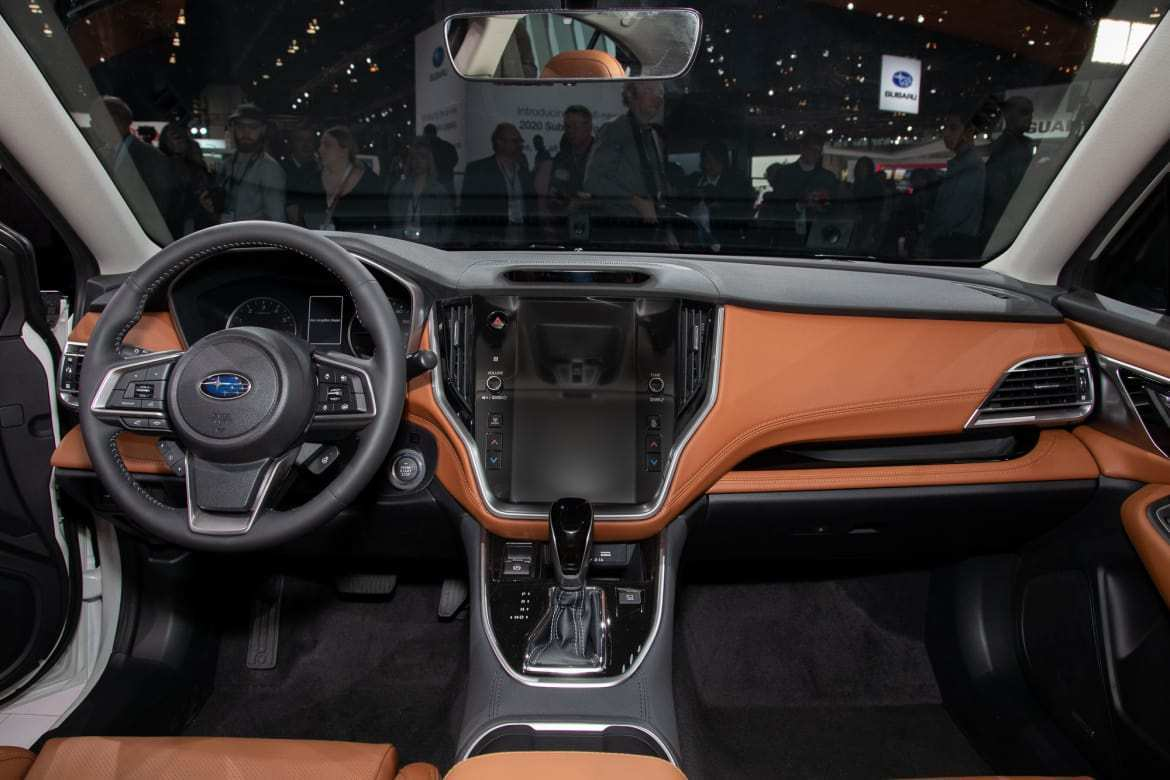 17 A Subaru Legacy 2020 Interior Spy Shoot