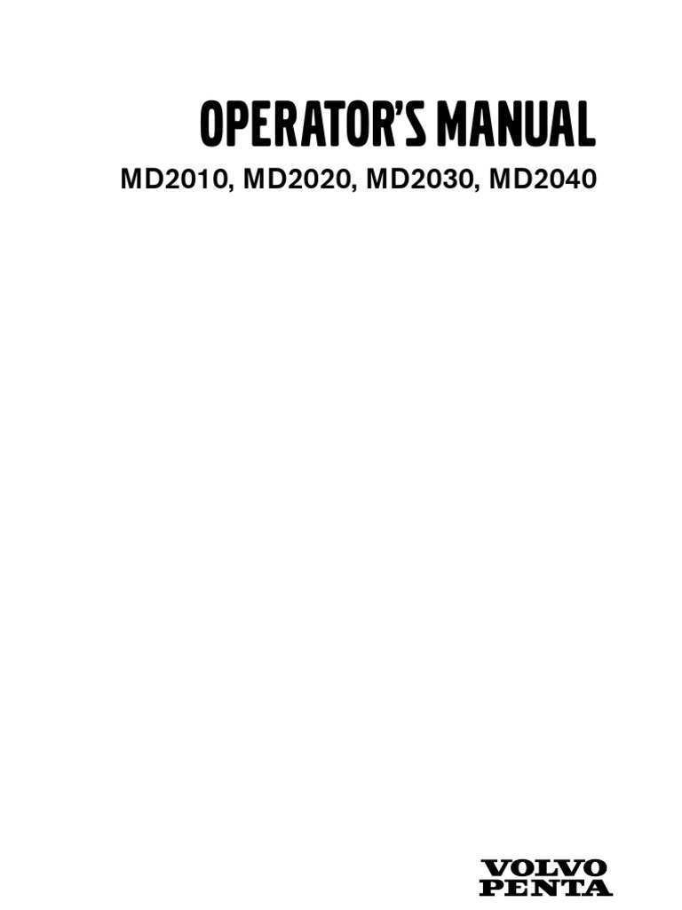 25 A Manual Volvo Md2020 History