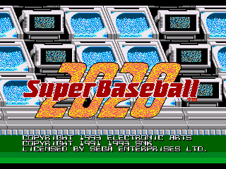 28 The Super Baseball 2020 Sega Genesis Interior