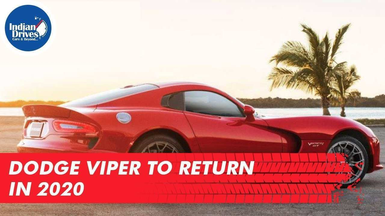 31 New 2020 Dodge Viper Youtube Prices