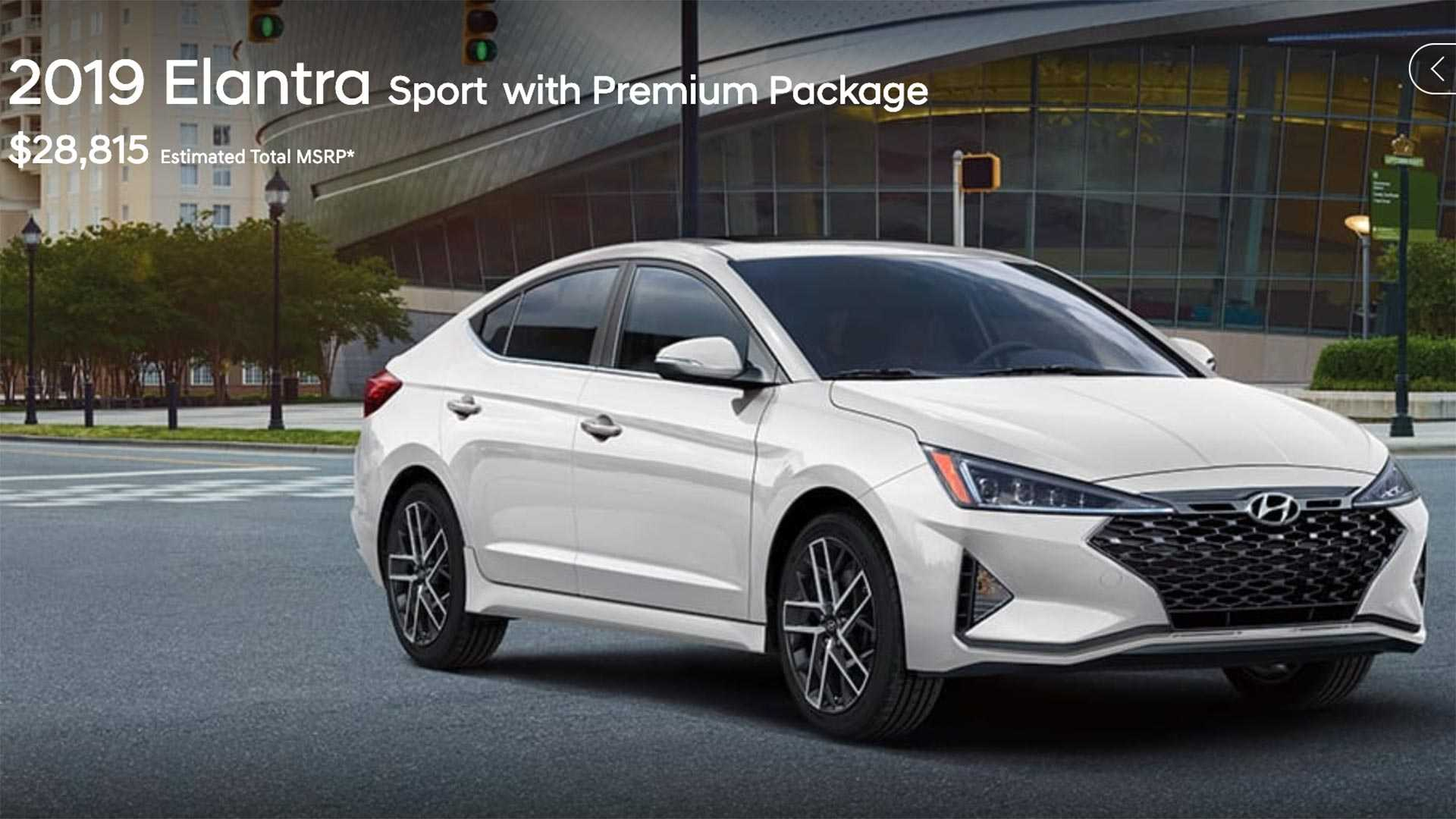 49 The 2019 Hyundai Elantra Sport Price And Release Date
