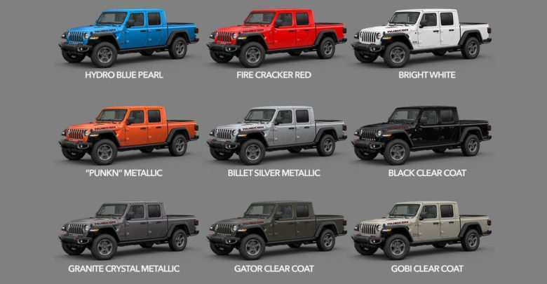 53 The Best 2020 Jeep Gladiator Color Options Concept
