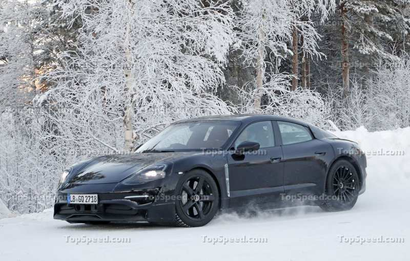 59 The 2020 Porsche Mission E Electric Sedan Spied Testing Alongside Teslas Review And Release Date