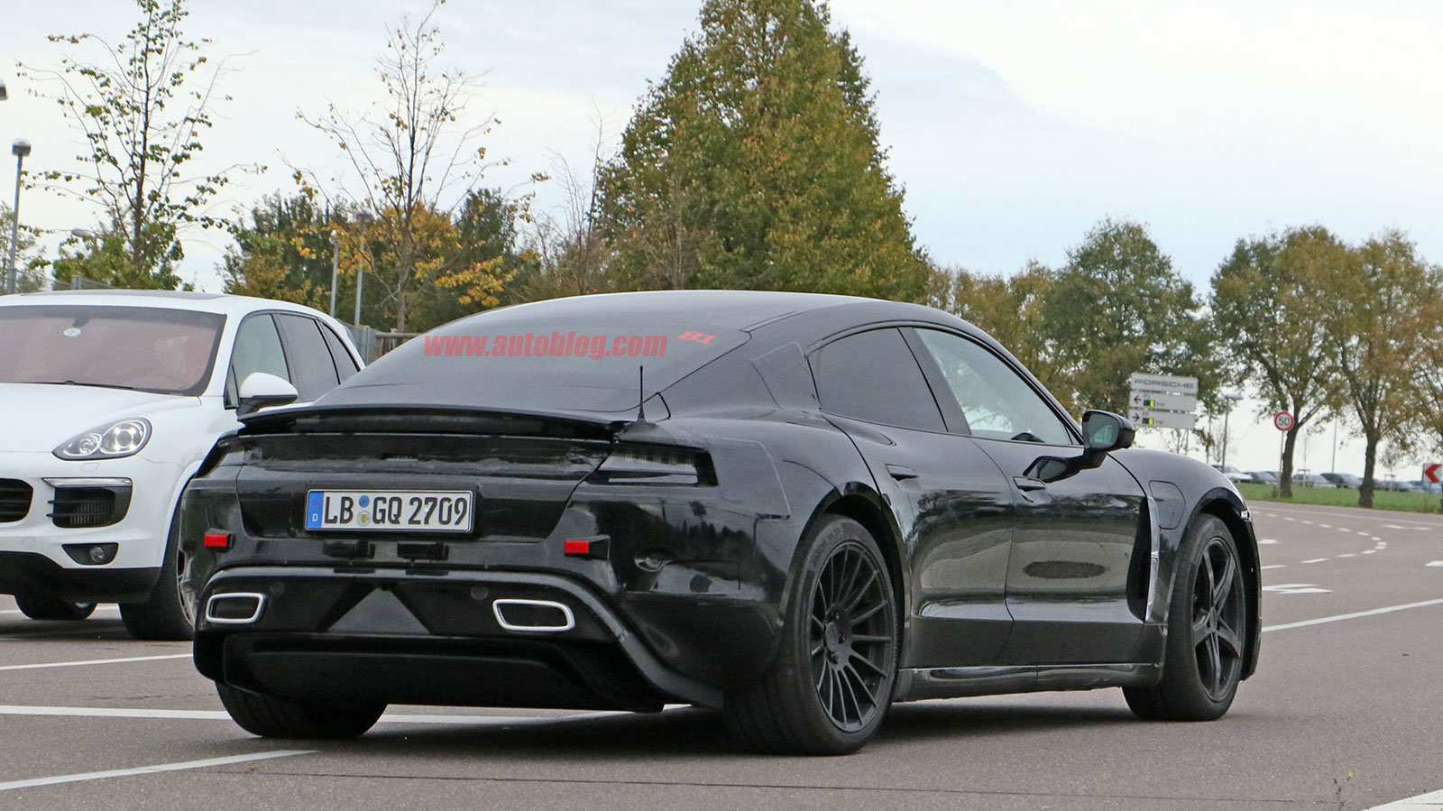 61 A 2020 Porsche Mission E Electric Sedan Spied Testing Alongside Teslas Overview