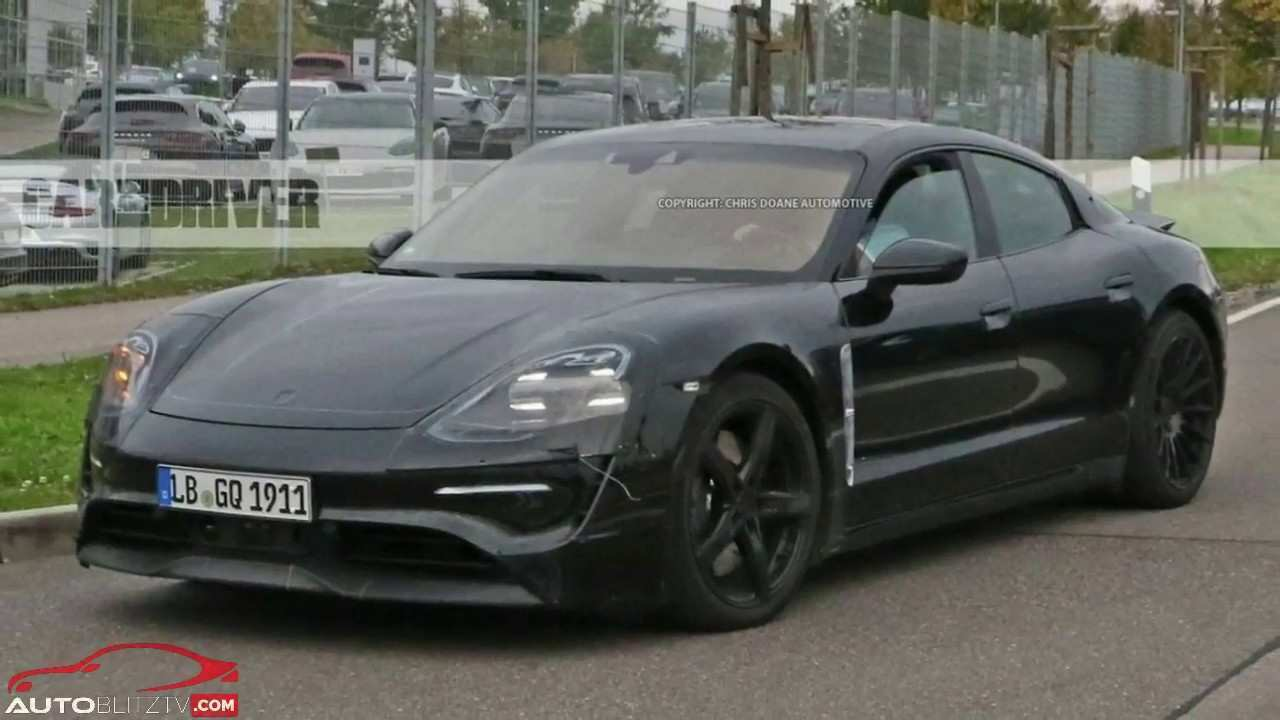 63 All New 2020 Porsche Mission E Electric Sedan Spied Testing Alongside Teslas Exterior