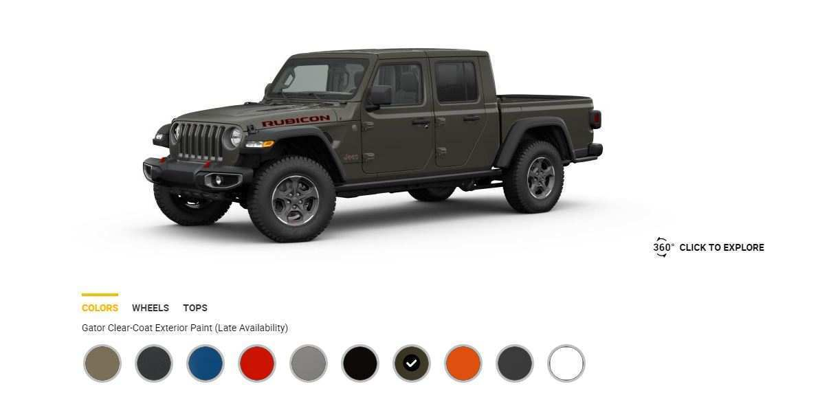 75 A 2020 Jeep Gladiator Color Options Prices