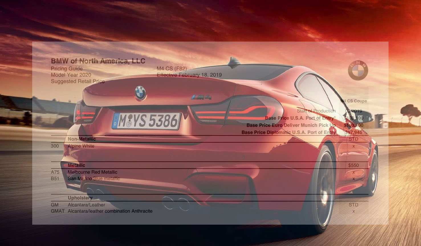 78 All New 2019 Bmw Ordering Guide Engine