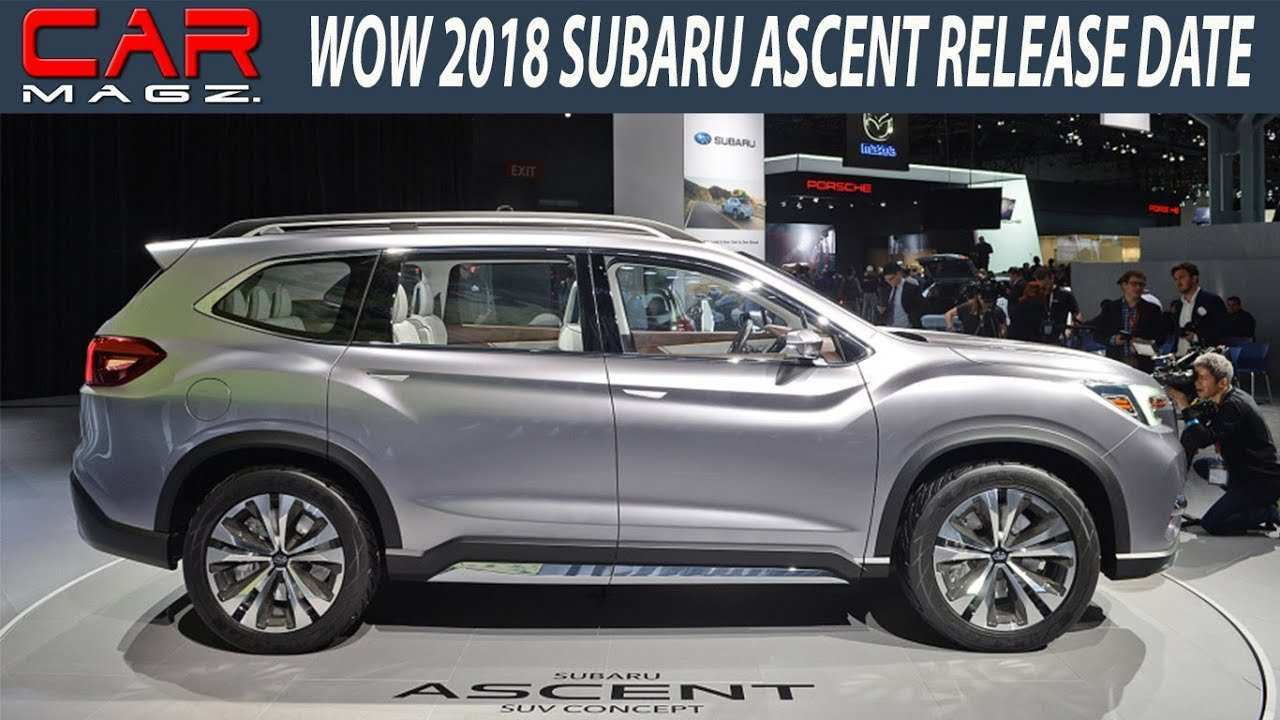 26 A 2019 Subaru Ascent Release Date New Model And Performance