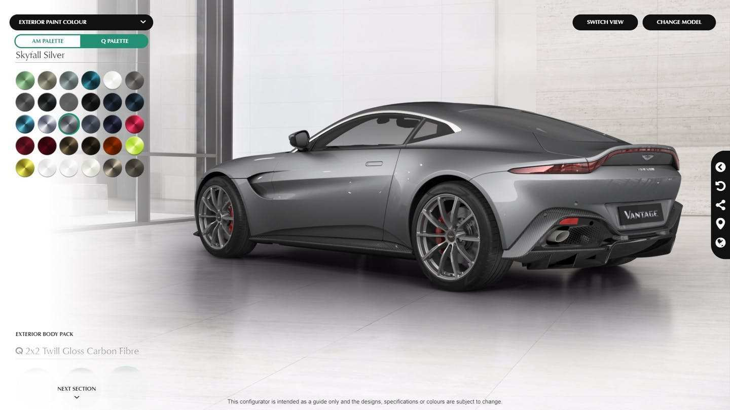 57 All New 2019 Aston Martin Vantage Configurator Picture