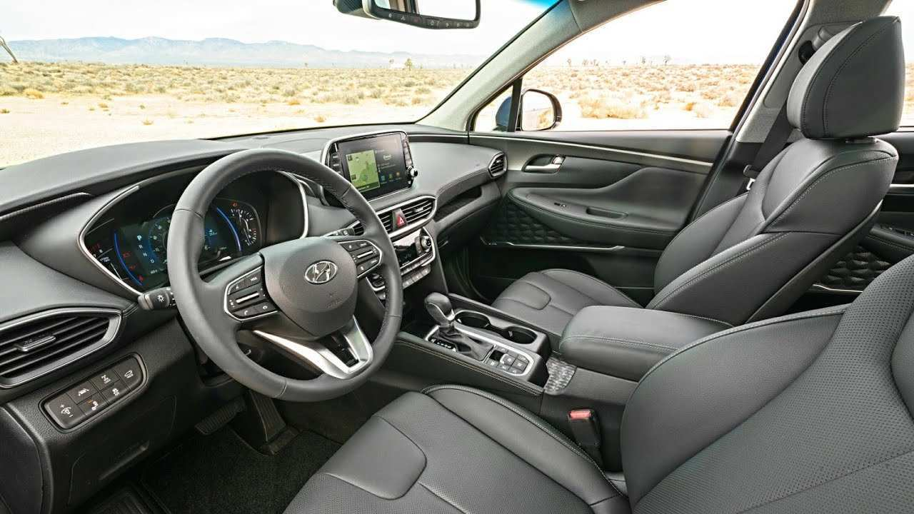 68 Best 2019 Hyundai Santa Fe Interior Redesign And Review