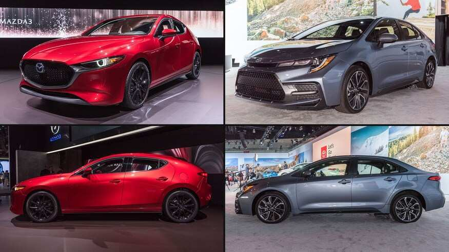71 A Corolla 2020 Vs Mazda 3 Picture