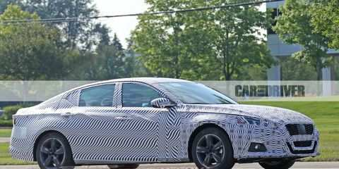 73 A 2019 Nissan Altima Spy Shots Engine